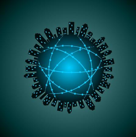 communications technology: Internet tecnolog�a de las comunicaciones en la Tierra