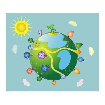 Wonderful  fairy-tale earth Stock Vector - 12419185