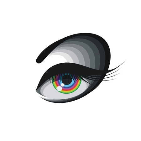 Coloured eye isolated on a white background Illustration
