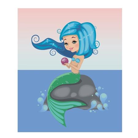 nude little girls: Русалочка с pearl.Illusration Иллюстрация