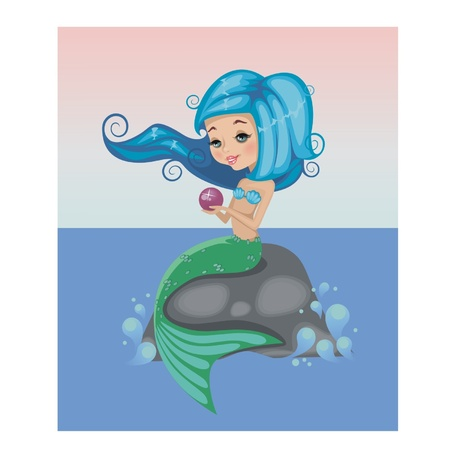 Little mermaid with a pearl.Illusration Stock Vector - 14347401