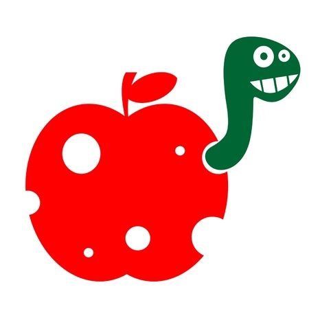 The worm in the apple Vector