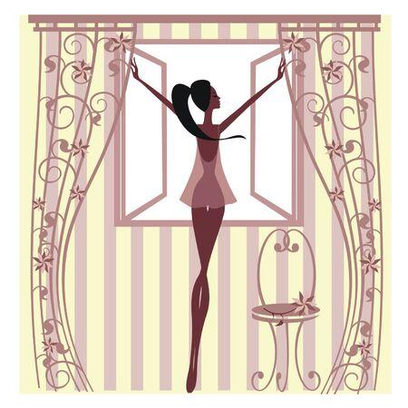 ébredés: Lány állt az ablaknál