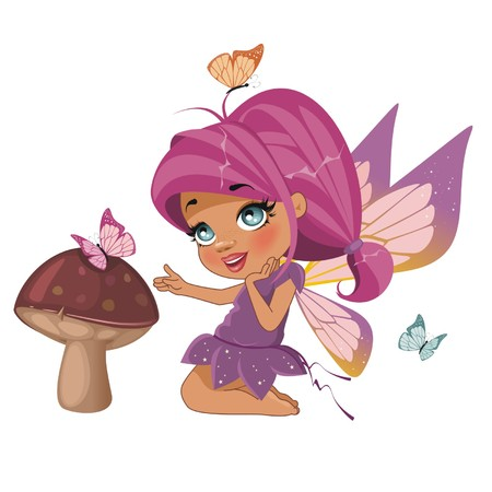 A beautiful fairy isolated on a white background Illustration