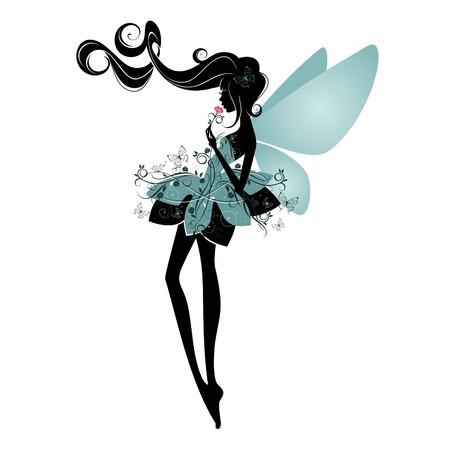 Portrait of a beautiful fairy 向量圖像