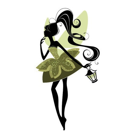 fairy: Portrait of a beautiful fairy Illustration