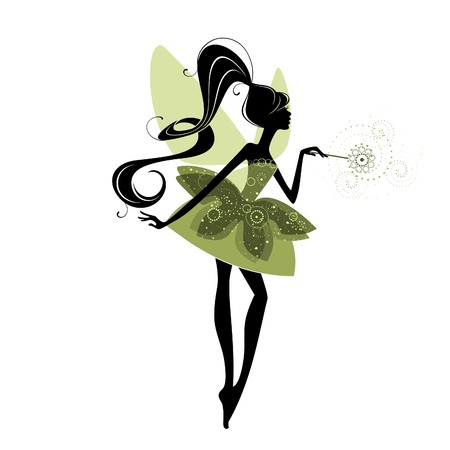 Portrait of a beautiful fairy  イラスト・ベクター素材