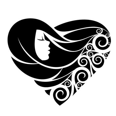 fantasia: Retrato de uma menina bonita da fantasia Ilustração