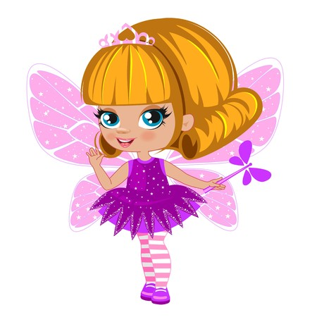 glamour model: Fairy girl in elegant dress on a white background
