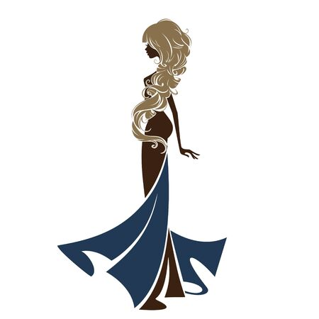Portrait of a beautiful girl in an elegant dress.