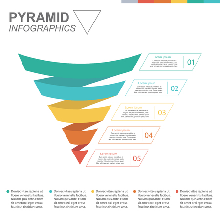 Business funnel pyramid. Business Infographics
