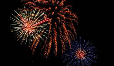 fires artificial: New year 2016 fireworks in koh samui,thailand