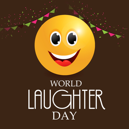 laughter: World Laughter Day Card.