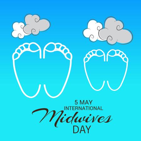 midwifery: International Midwives day Illustration