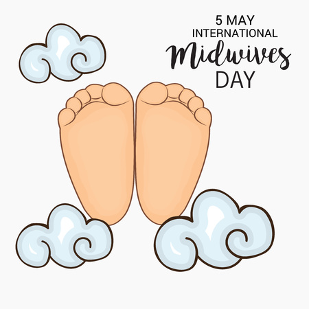 observance: International Midwives day Illustration