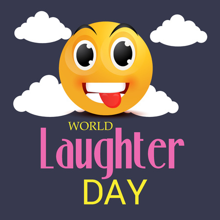 alien face: World Laughter Day.