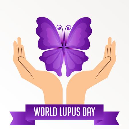 세계 lupus 하루 배경입니다.
