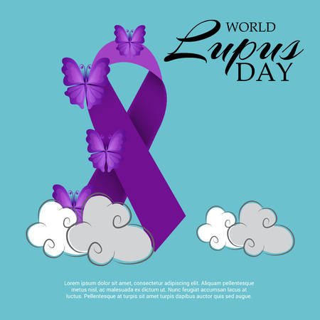 World lupus day background.