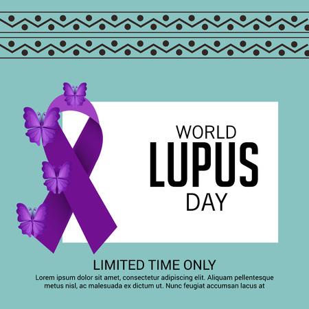 pancreatic cancer: World lupus day background.