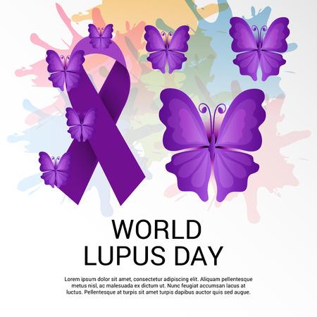 World lupus day background.