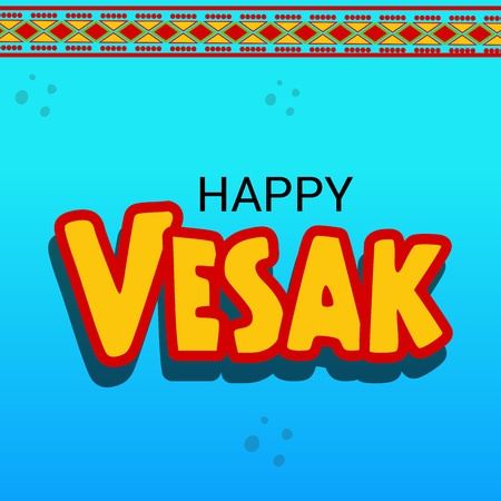 greet card: Happy Vesak Day.