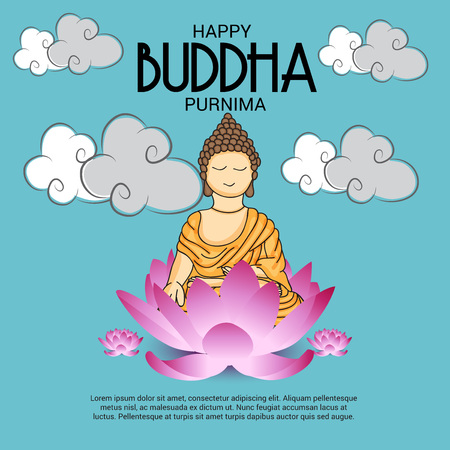 Glücklicher Buddha Purnima. Standard-Bild - 77532636