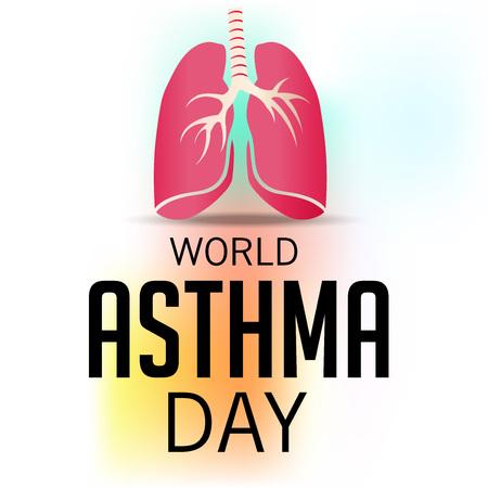 inhalation: World Asthma Day Illustration