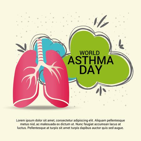 asthma inhaler: World Asthma Day Illustration