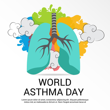 asthma inhaler: World Asthma Day.