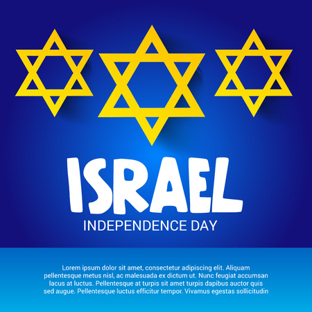 Happy Israel Independence Day . Illustration