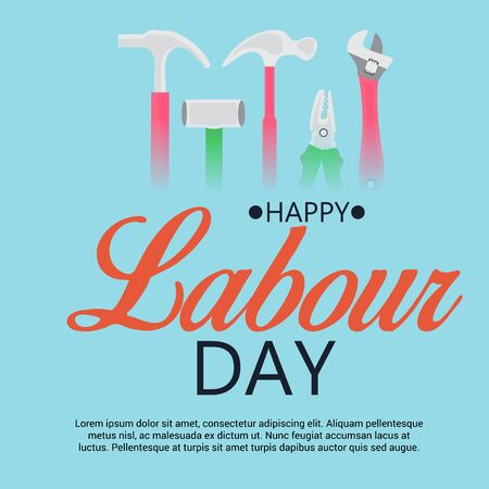 Happy Labour Day. Illustration