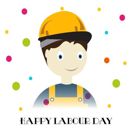 gewerkschaft: Happy Labour Day. Illustration