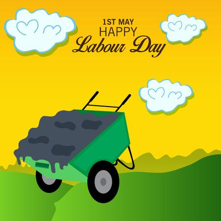 Happy Labour Day. Illustration