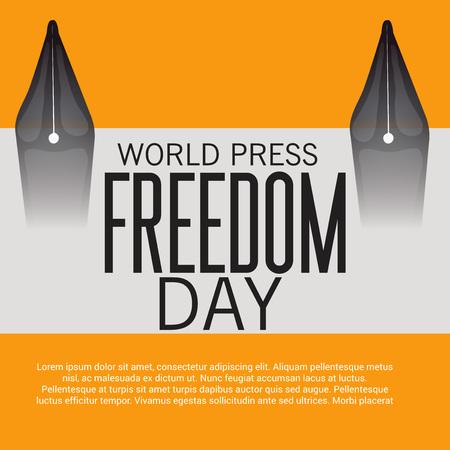 World press freedom day. Illustration