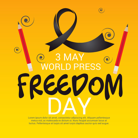 World press freedom day. Illustration