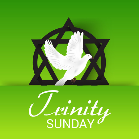 worship praise: Vector illustration of a Banner for Trinity Sunday.