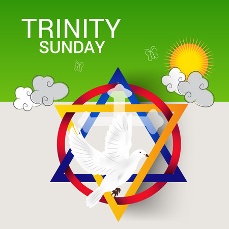 Vector illustration of a Banner for Trinity Sunday.