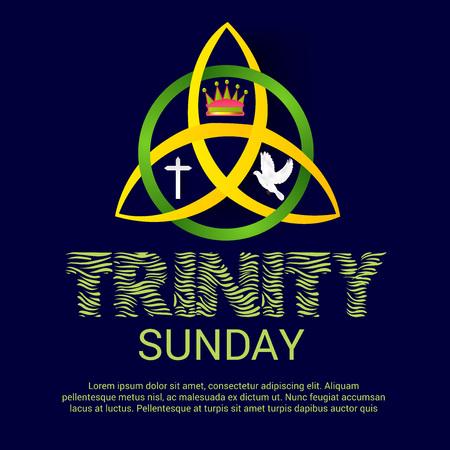 Ilustración vectorial de una bandera para el domingo de la Trinidad.