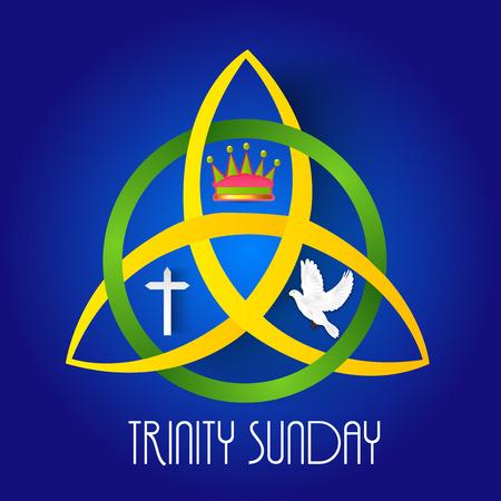 Trinity Sunday Background. Illustration