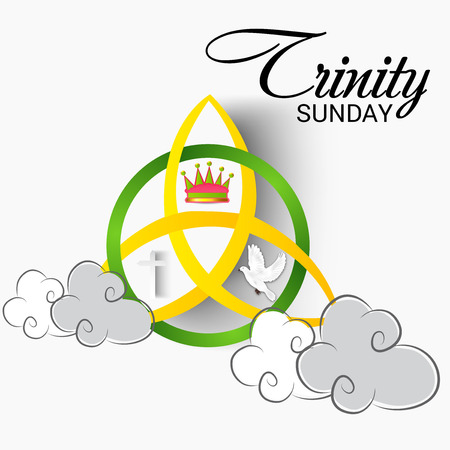 Trinity Sunday Background. Illustration