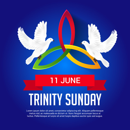 Trinity Sunday Background. Vector illustratie.