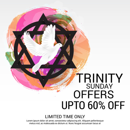 worship praise: Trinity Sunday Background. Vector illustration. Illustration