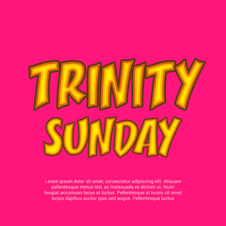 Trinity Sunday Background. Vector illustration. Illustration