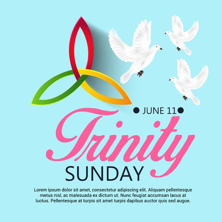 Trinity Sunday Background. Ilustrace