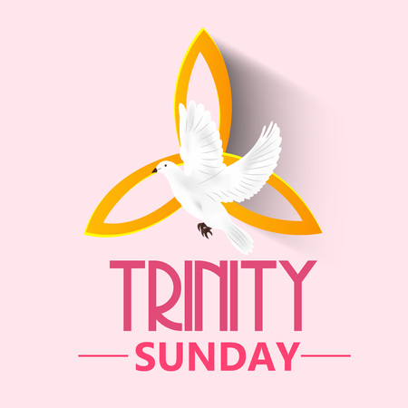 worship praise: Trinity Sunday Background. Illustration