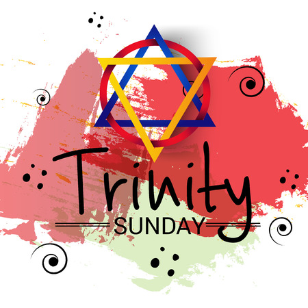 Trinity Sunday Background. Vector illustration. Illustration