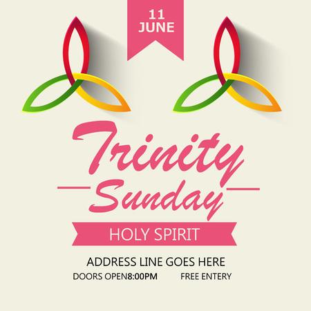 praise: Trinity Sunday Background. Illustration
