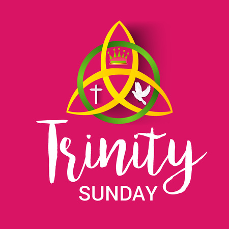 Trinity Sunday Background. Stock Illustratie