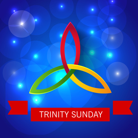 Trinity Sunday Background. 矢量图像