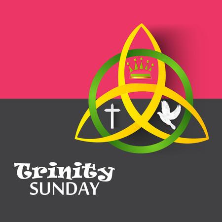 Trinity Sunday Background. Vettoriali
